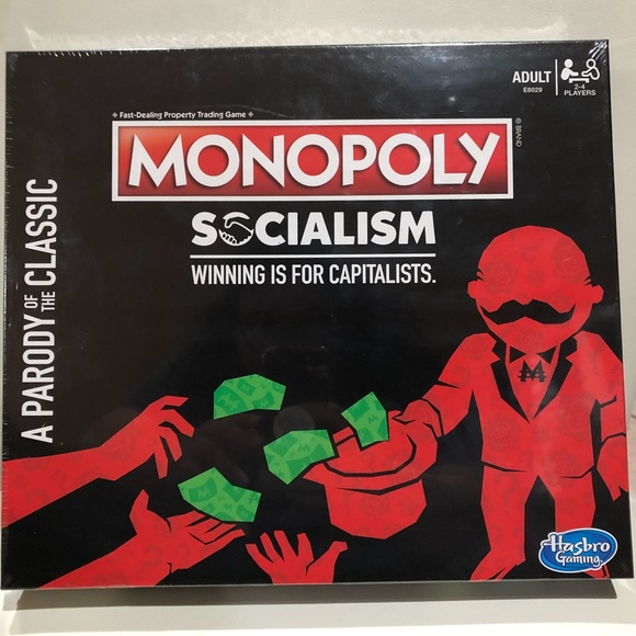 Parody Monopoly Socialism Winning Is For Capitalists A Parody Of The Classic NIB